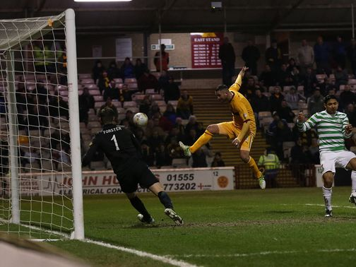 Michael Higdon restores Motherwell's lead
