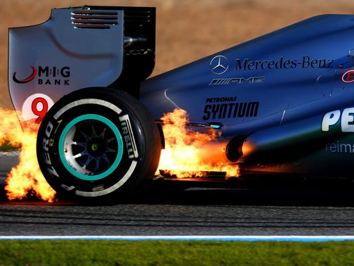 Nico Rosberg: Faulty wiring caused a fire to break out