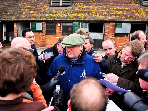 Paul Nicholls talks the media through his plans for Cheltenham