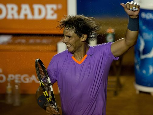 Nadal: Won in straight sets