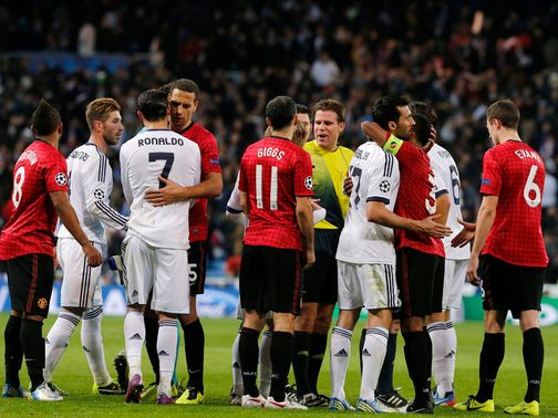 Manchester United drew 1-1 with Real Madrid at the Bernabeu