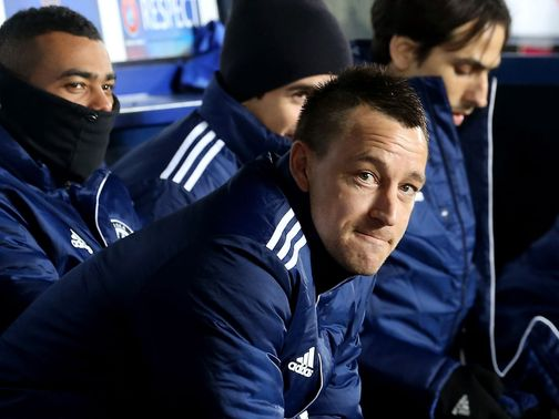 John Terry: Restricted to bench duty against Sparta Prague