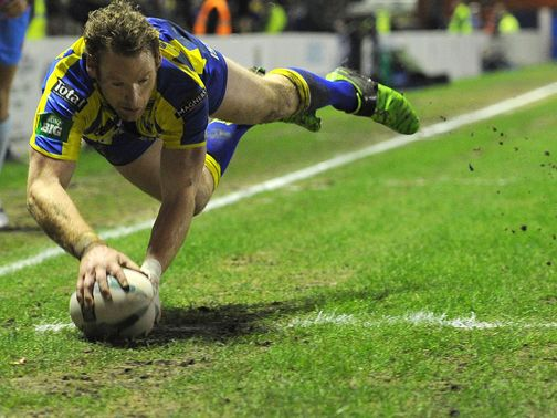 Joel Monaghan: Two tries for Warrington