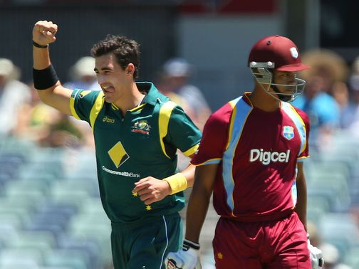Mitchell Starc enjoys Australia&#39;s victory.