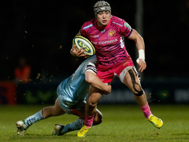 Jack Nowell in action at Sandy Park