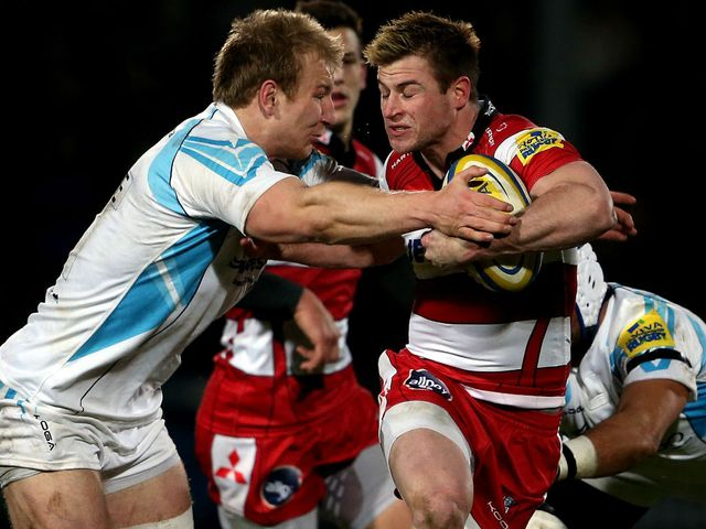 Henry Trinder in action for Gloucester