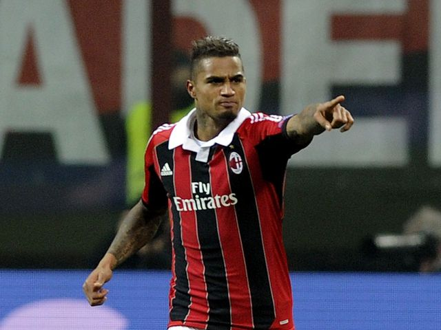 Kevin-Prince Boateng gave AC Milan the lead at the San Siro
