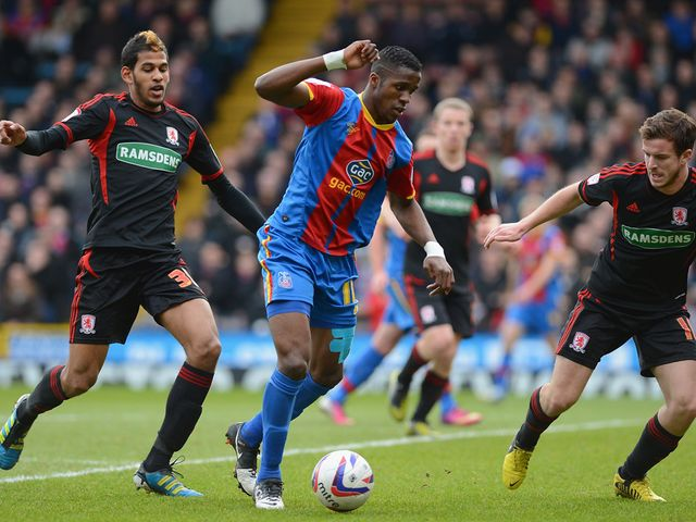 Wilfried Zaha in action for Palace.