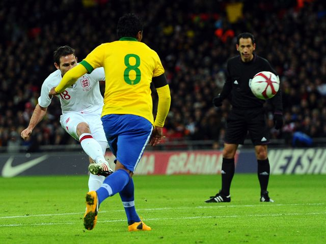 Frank Lampard's superb strike restored England's lead