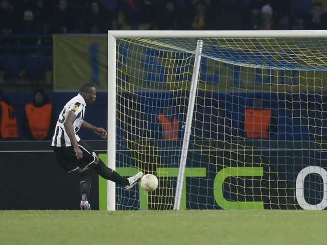 Shola Ameobi's penalty was enough to send Newcastle through