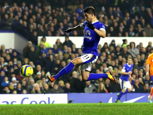 Kevin Mirallas opened the scoring for Everton
