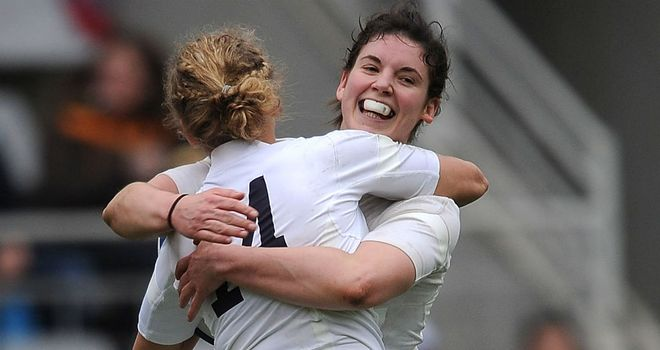 Kay Wilson (14) and Sarah Hunter both scored for England