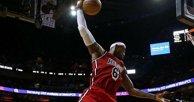 LeBron James: Big game for the Miami Heat