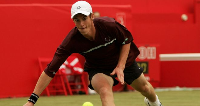 An 18-year-old Andy Murray at Queen's in 2005.