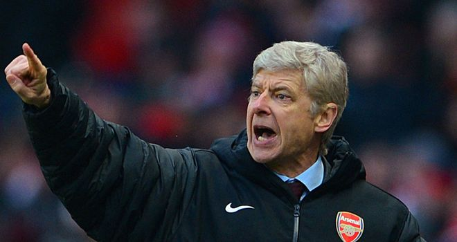 Arsene Wenger: Has urged his players not to talk under pressure