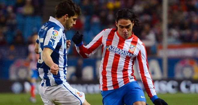 Falcao tries to find a way through