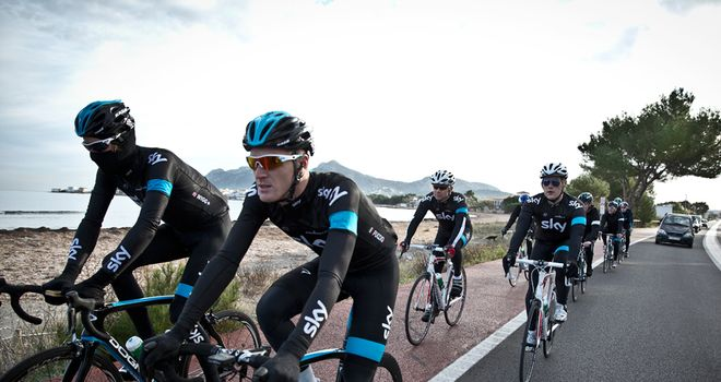 The Back To Your Best riders headed out with Team Sky