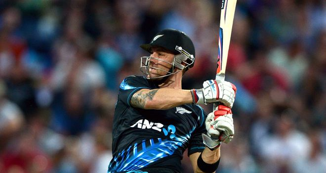 Brendon McCullum smashed 74 to put the Kiwis en route to a convincing victory