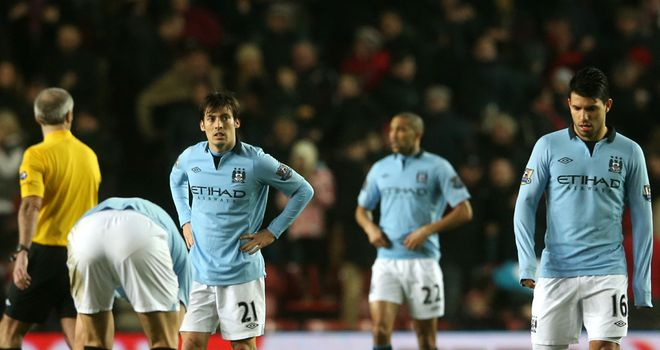 Manchester City: lost more ground in the Premier League title race to rivals Manchester United