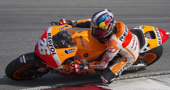 Dani Pedrosa: Happy with his Honda's performance.