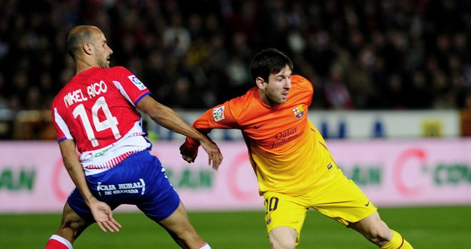 Lionel Messi: Spearheaded a Barca fightback at Granada