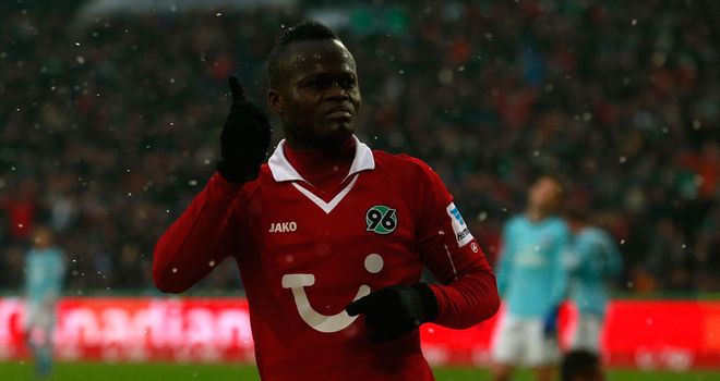 Didier Ya Konan scored two goals for Hannover