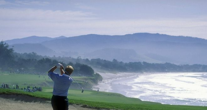 The Golden Bear, Jack Nicklaus, in his element at Pebble Beach