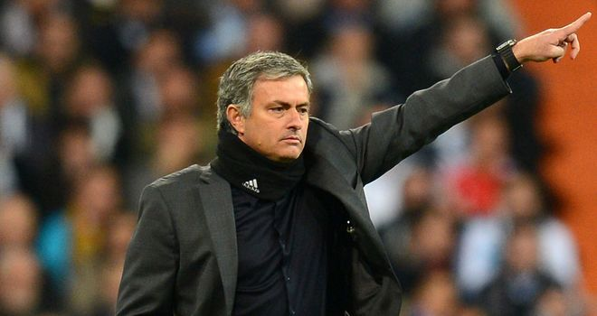 Pointing the way. But what does the future hold for Jose Mourinho?
