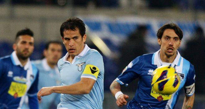 Cristian Ledesma in action for Lazio