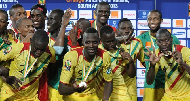 Mali: Celebrate finishing third at the Africa Cup of Nations