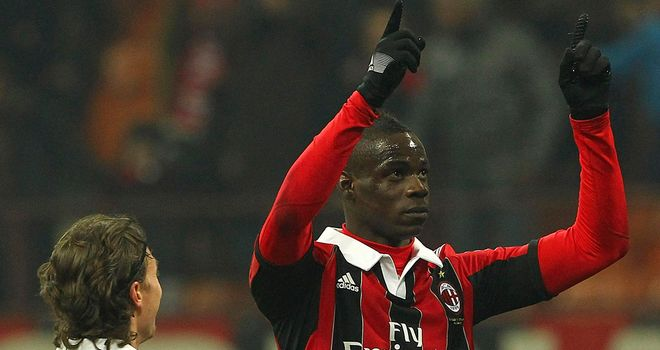 Mario Balotelli: Scored for the third game in a row