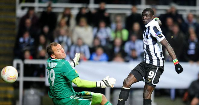 Papiss Cisse finds the back of the net - only to be ruled offside