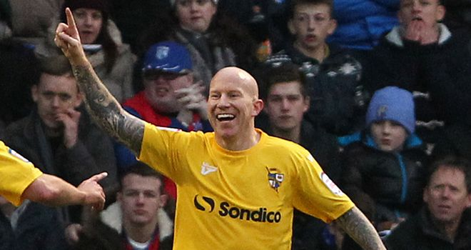 Lee Hughes: Scored a hat-trick in Vale's thumping win