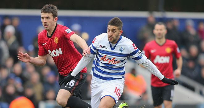 Michael Carrick: Was in action against QPR on Saturday