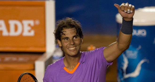 Rafa Nadal: Eased into the quarter-finals