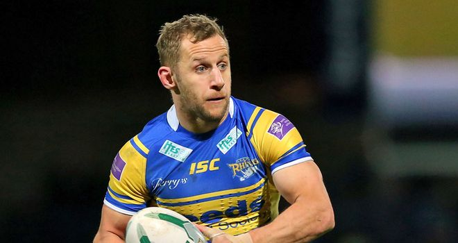 Rob Burrow and his Leeds side fell just short against Melbourne Storm
