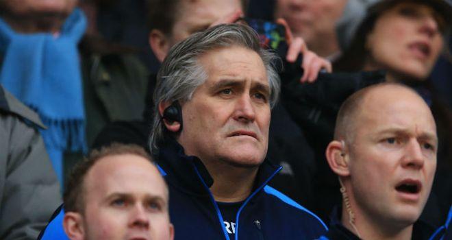 Scotland interim coach Scott Johnson looks on during defeat to England