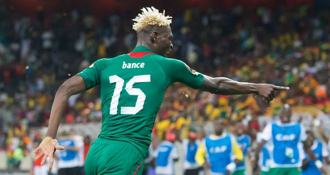 Aristide Bance: Celebrates equaliser that took semi-final to penalties