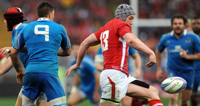 Jonathan Davies: In action against Italy in Rome