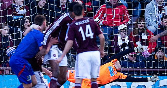 Gary Warren (far left): Opens the scoring at Tynecastle