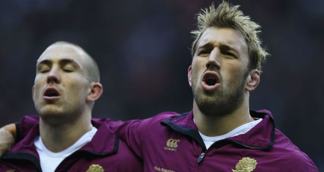 Mike Brown (left) and Chris Robshaw: now playing together for both club and country