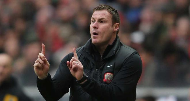 David Flitcroft: The Barnsley boss has a relegation battle on his hands