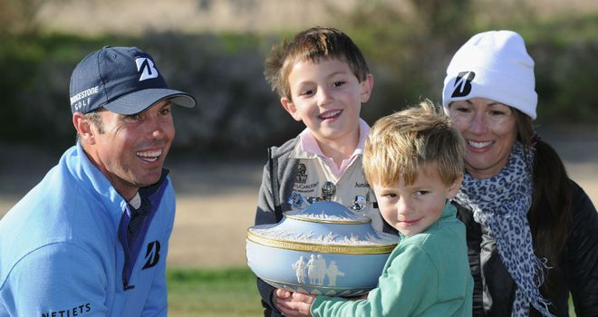 Matt Kuchar celebrates with his family after winning the WGC Match Play