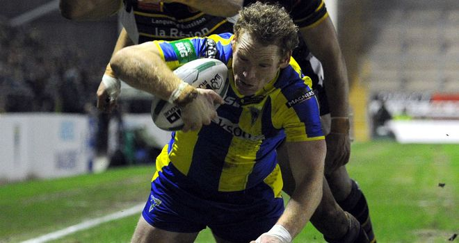 Joel Monaghan: scored two tries as Warrington ended Catalan's perfect start to the season