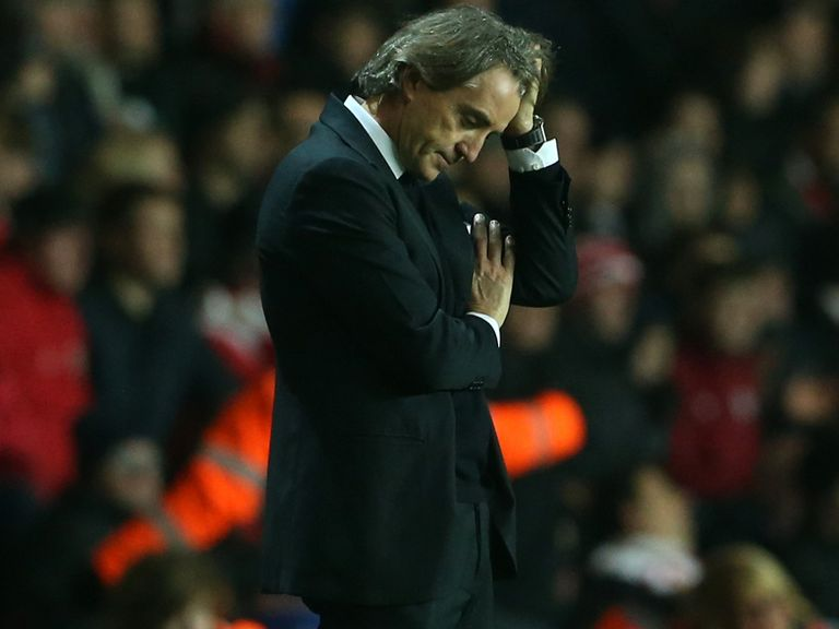 Dejection for Roberto Mancini at St Mary's