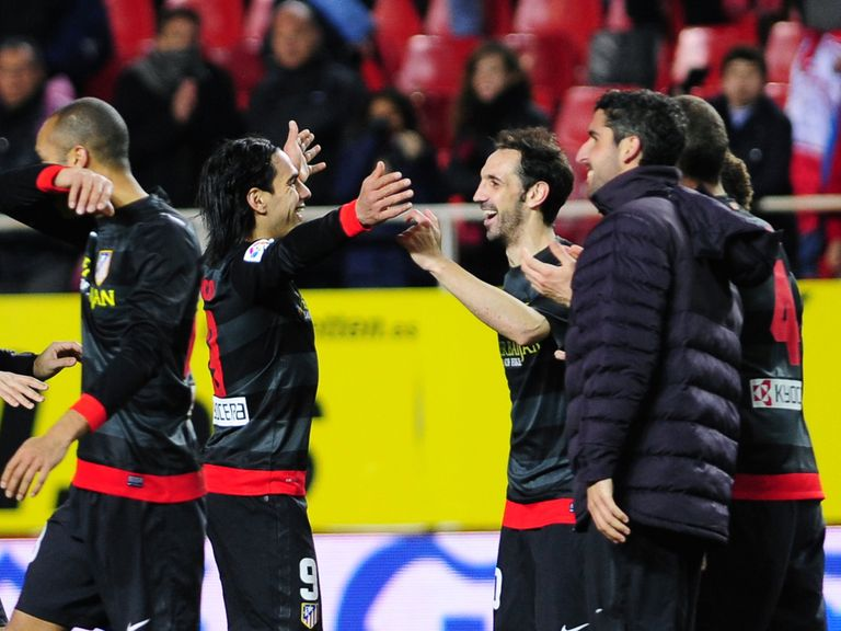 Atletico Madrid celebrate their aggregate victory over Sevilla