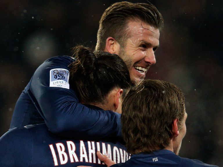 David Beckham is at the heart of the PSG celebrations