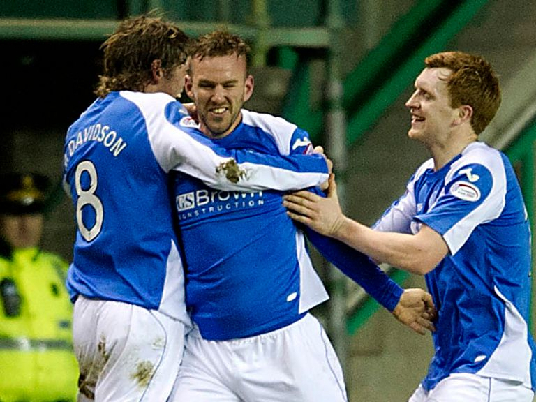 St Johnstone celebrate at Easter Road