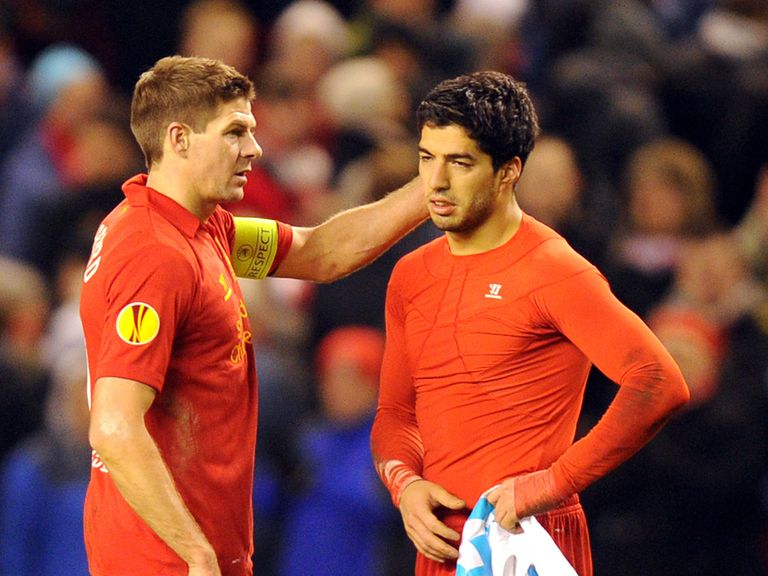 Steven Gerrard has backed Luis Suarez.