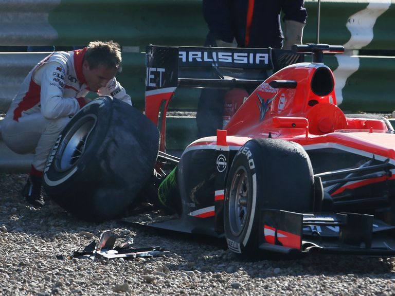 Max Chilton: Suffered rear suspension failure